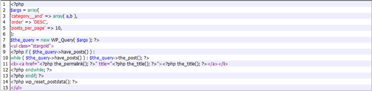 Wordpreeで複数カテゴリを条件分岐で抽出